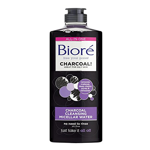 Biore Charcoal Cleansing Make Up Removing Micellar Water for Oily Skin, 300...