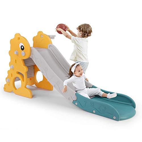 LAZY BUDDY Kinder Rutsche Fun Slide für 1-5 Jahre, standfest und sicher (Dinosaurier)