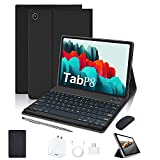 Tablet 10 Inch 4G LTE, 4GB RAM + 64GB ROM Android 10 Quad Core Processor,Dual Camera Dual SIM Card Slots Unlocked, 1080p Full HD Touch,Bluetooth8000mAh,WiFi,10.1 inch Tablet with Keyboard and Mouse