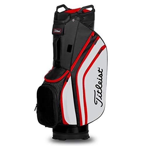 Titleist Golftasche, leicht, 14 Stück, Herren, schwarz / weiß / rot