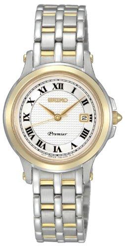 Seiko Metallband Damen SXDE02P1 - Reloj analógico de Cuarzo para Mujer, Correa de Acero Inoxidable Chapado Multicolor