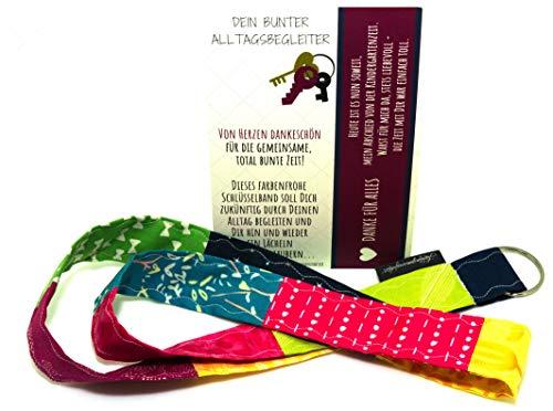 Geschenk zum Abschied für Erzieherin im Kindergarten – von Herzen danke sagen – Schlüsselanhänger mit Karte & Botschaft – Dankeschön zum Abschluss – persönliches Abschiedsgeschenk für Erzieherinnen