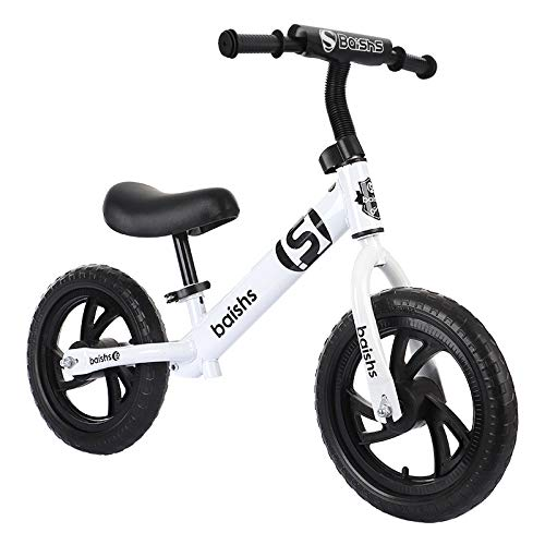 Kupper 12' Balance Bike Carbon Steel Frame No Pedal Walking Balance Bike Training Bicycle for Kids and Toddlers 2- to 6 Years Old Blanco.