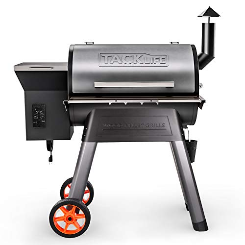 TACKLIFE Wood Pellet Grill & Smoke Machine, Multi-Function Cooking Combination, Automatic Delivery Particle and Automatic Temperature Control WPG01A-700 Combination Grill-Smokers Smokers