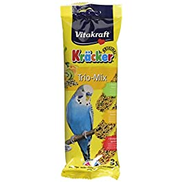 Vitakraft Budgie Kracker Bird Food Orange-Apricot/Kiwi-Cit/Sesame-Banana, Pack of 7
