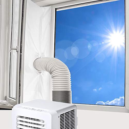 Vegena Fensterabdichtung Für Mobile Klimageräte, Klimaanlage Abluft-Wäschetrockner Trockner Bautrockner Ablufttrockner Luftentfeuchter Hot Air Stop Für Fenster Kippfenster Dachfenster 300cm