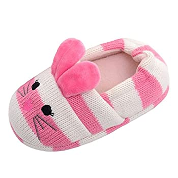 Beeliss Toddler Girls Slippers Cartoon Animal Crochet Shoes  9-10 M US Toddler Pink