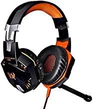 KOTION Each G2000 50mm Drivers Wired Gaming Headphones with Mic for PC Computer Headset Earphone Stereo Bass LED Light & Noise Isolation