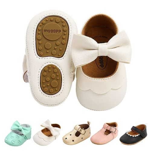 TMEOG Baby Schuhe Weich und Bequem Neugeborene Kleinkind Krabbelschuhe rutschfeste Gummisohle Babyschuhe Lauflernschuhe Mädchen Jungen for 0-18Monate