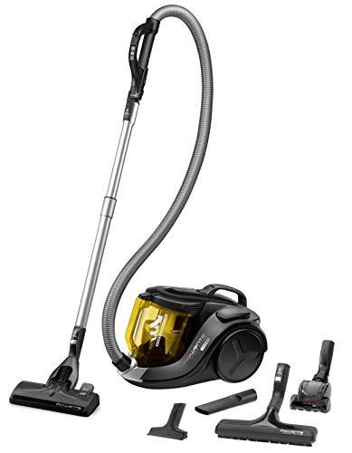 Rowenta RO6984 X-Trem Power Cyclonic | Beutelloser Staubsauger | Vacuum Cleaner | Sehr Leise | 2,5L Staubvolumen | Tierhaar | 750 Watt | Schwarz/Gelb