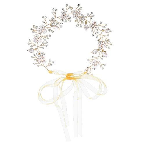 High-end Merk Bruid Sieraden Handgeweven Bloemen Jurk Tiara Europese Bruiloft Bruid Haarband