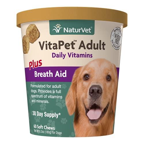 NaturVet VitaPet Adult Daily Vitamins Plus Breath...