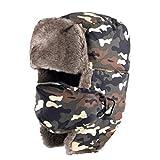 JOYOTER Sombrero de Bombardero de Invierno Unisex para Mantenerse Caliente Mientras se realizan Actividades al Aire Libre Clima frío Sombrero de Cazador de Soldado a Prueba de Viento