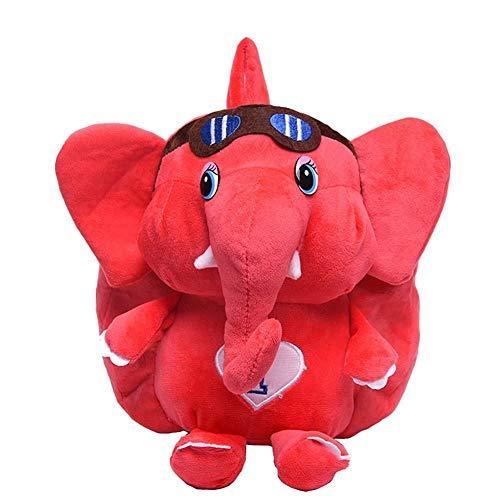 Evmho - Borsa per la scuola per bambini, motivo: elefante, Rosso (Rosso) - MZHGXCBMN0
