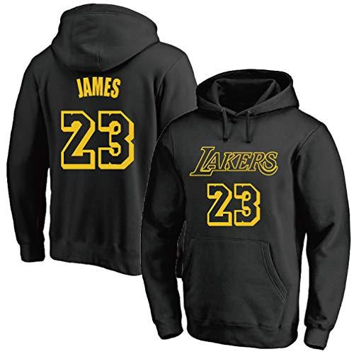 Jersey de baloncesto para hombre, Lakers No. 23 James, suéter de entrenamiento para hombre y mujer, más ropa deportiva de terciopelo,, 123, negro, XXL