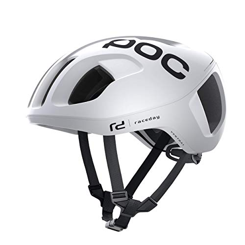 POC Ventral SPIN - Casco Ciclismo, S (50-56cm), Blanco (Hydrogen White Raceday)