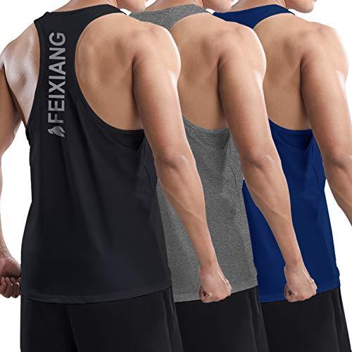 MEETWEE Camiseta de tirantes para hombre, espalda en Y, sin mangas, camiseta deportiva atlética, camiseta muscular, gimnasio, para correr, entrenamiento