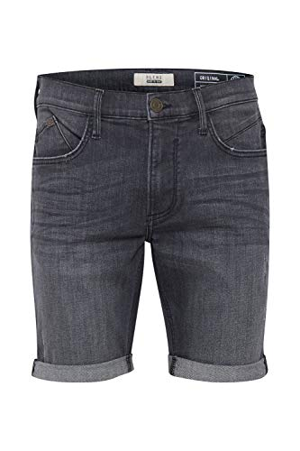 Blend Grilitsch Herren Jeans Shorts Kurze Denim Hose Mit Destroyed-Optik Aus Stretch-Material Slim Fit, Größe:XL, Farbe:Denim Dark Grey (76209)