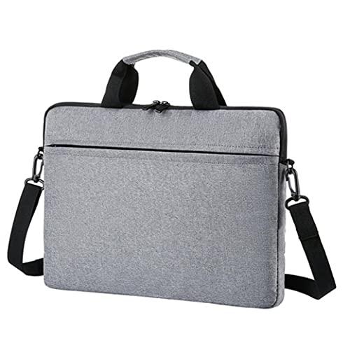 Laptop väska 15.6 tum Notebook dator portfölj Vattentät axel hand bärväska grå, datorpaket