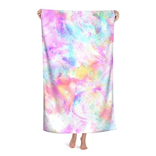Toalla de playa Caleidoscopio Tie Dye Print Dream Bubble Sand Free Toalla fina Toallas Manta de secado rápido Super Absorbente Suave Piscina Toalla de Baño