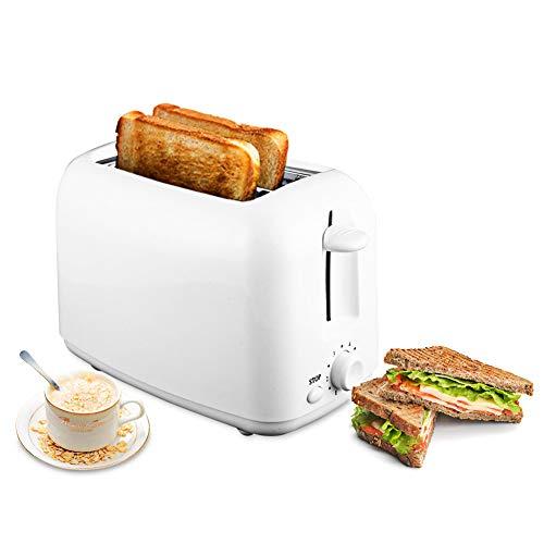 CHEN 2 Scheiben Toaster Edelstahl, Blocking Toaster Auto Wide Slot Mit Abnehmbarer Krümelschublade Für Bagels, Waffeln, Brotsort, Blätterteig-Gebäck, Snacks, Weiss