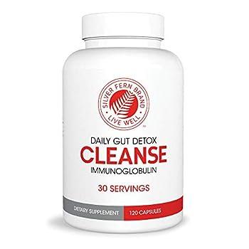 Cleanse - Daily Gut Detox - 1 Bottle - 120 Capsules - 30 Day Supply - Immunoglobulin G A & M - IgG IGA IgM  - Digestive System Detoxificaton & Immune System Booster - Postbiotic