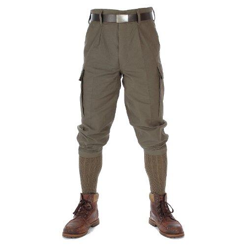 Leo Köhler Oefele.de 170 Pantalon de chasse original de l'armée allemande Knickerbocker Gris pierre / olive