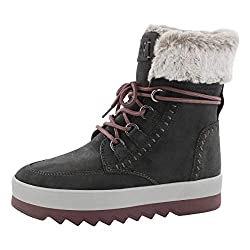 commercial COUGAR Women's Vanetta Pewter 8 Medium US Gray Waterproof Lace-Up Winter Boots cougar fifi boots