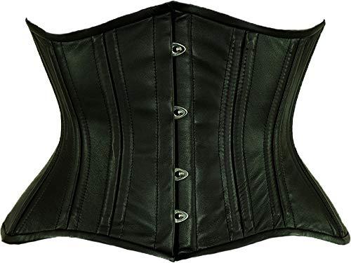 Orchard Corset CS-426 Standard Black Leather Corset - Size 22