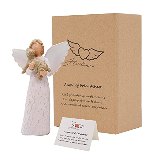 Hotme Angel of Friendship, Dog Memorial Gifts, Pet Loss Gifts, Passed Away Dog Gifts, Remembrance Gift for a Grieving Pet Owner, Sculpted Hand-Painted Figure
