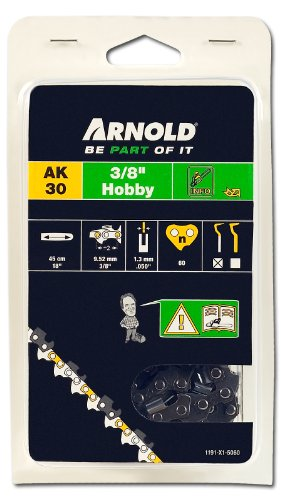 Arnold Sägekette 3/8 Zoll Hobby, 1.3 mm, 60 Treibglieder, 45 cm Schwert 1191-X1-5060