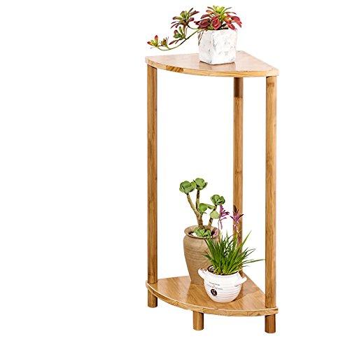 Stand de Fleurs- en Forme d'éventail Balcon Fleur Étagère en Bois Massif Multi-étages Salon Plancher Pot De Fleurs Simple Bambou Fleur Étagère (Taille : 70 * 30 * 30cm)
