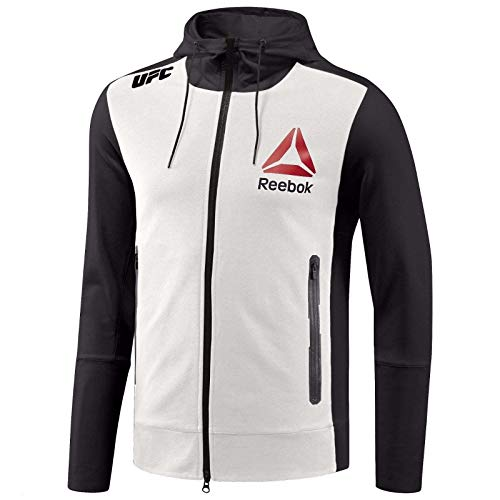 Reebok Men's X UFC Fk Walkout Hoodie, Black/Gravel Chalk,M - US