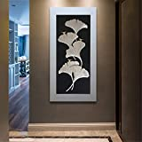 Vertical Ginkgo Leaf DIY 5d Diamond Painting Round Diamond Cross Stitch Xuantai Day Home Decoration 70X140CM A
