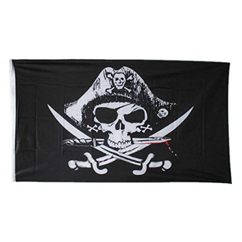 90x150cm Bandera Gran Große Banner Flagge Nationalflagge Gedruckt Polyester-Piraten-Schädel Mit Messing Grommets
