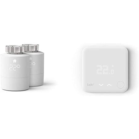 tado° Cabezal Termostático Inteligente - Pack Duo, Accesorio para Control de Habitaciones múltiples + Termostato Inteligente CableadoAccesorio para Control de Habitaciones múltiples