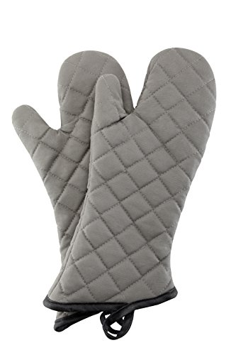 Oven Mitts 1 Pair of Quilted Cotton Lining - Heat Resistant Kitchen Gloves