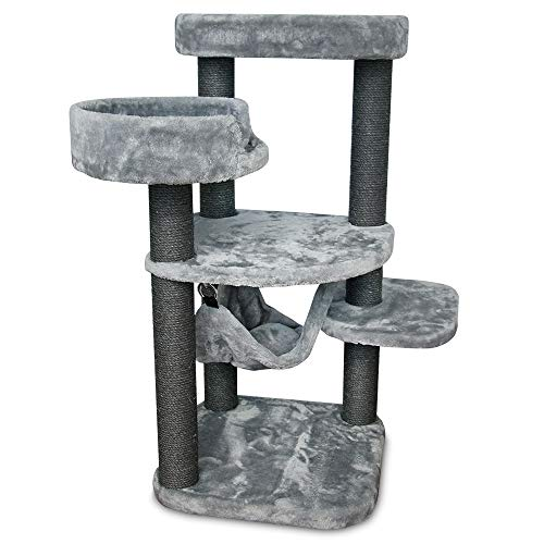 "Best Pet Supplies CTF01 Cat Tree Cat Condo, 40"", Square"