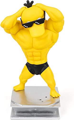 Lustige Pokemon Muscle Bodybuilding Serie Figur Spielzeug Charaktere Modell, Büro Und Schlafsaal Desktop Dekoration Pvc 8 zoll, Geburtstagsgeschenk (Psyduck)