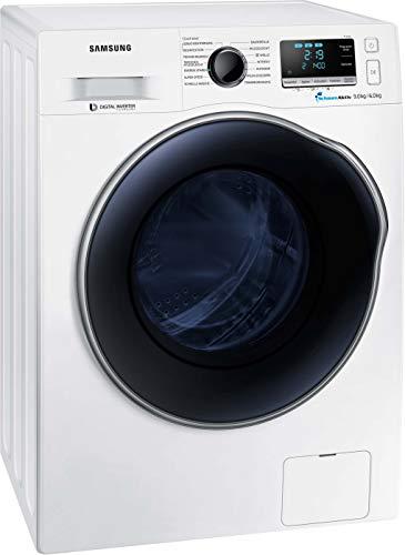 Samsung WD6000 WD91J6A00AW/EG Waschtrockner 9 + 6 kg / 1400 U/min / AAA / 2 AirWash – Programme (Geruchsentfernung & Desinfektion) / SchaumAktiv-Technologie