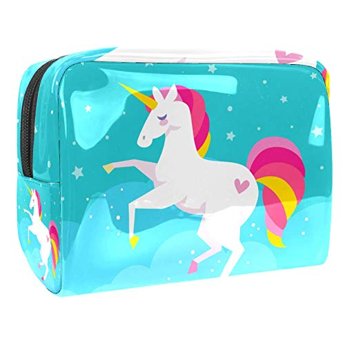 Luggage Cosmetic Cases Unicorn Dream Portable Travel Makeup Cosmetic Bags Organizer Multifunction Case Toiletry Bags for Women 7.3x3x5.1in