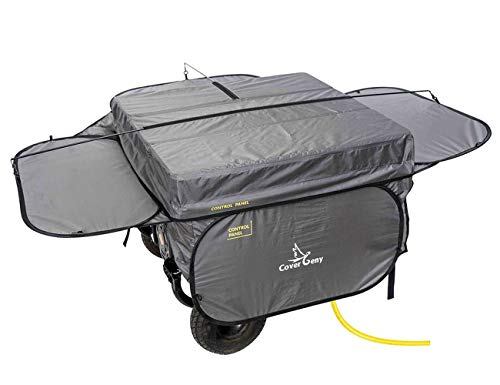 Cover Geny Outdoor Generator Running Cover Tent Portable Heavy Duty All-Weather Protection Generator Shelter for Most 4500Watt-13000Watt Generators (32 x 32 x 21inch, Grey)