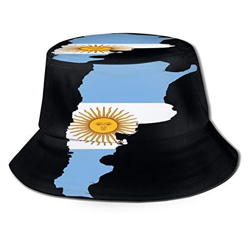 Yoliveya Sombrero de Pesca,Bandera Argentina Mapa,Senderismo para Hombres y Mujeres al Aire Libre Sombrero de Cubo Sombrero para el Sol