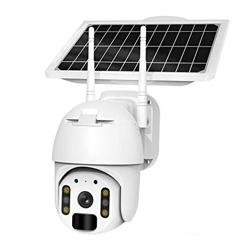 Caméra de sécurité solaire sans fil 4G/Wi-Fi, HD 1080p, étanche, 2 MP, caméra de vidéosurveillance, projecteur et emplacement pour carte SD, Compatible avec Alexa (Wi-Fi)