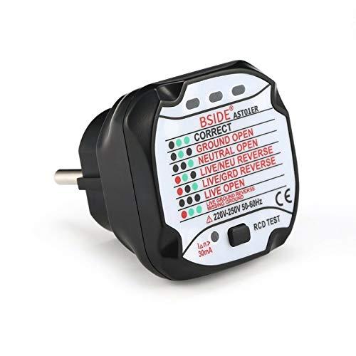 1 comprobador de toma de corriente, comprobador de toma eléctrica, detector de...