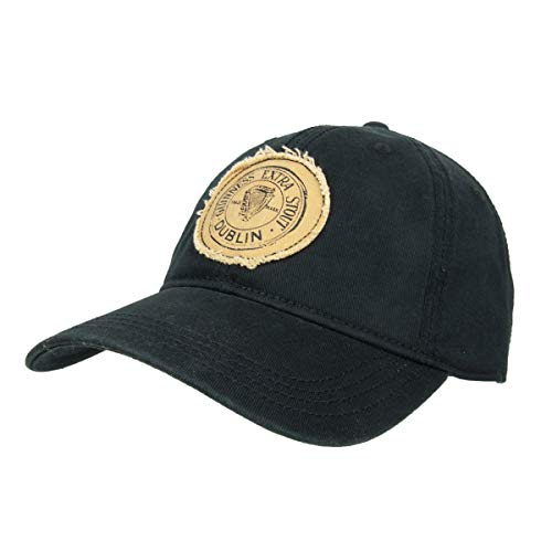 Extra Stout Label Guinness Baseball Cap Black and Official Logos