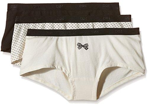 Dim Damen Boxershorts Trousse boxer pocket coton x3, Lot nœud noir, S
