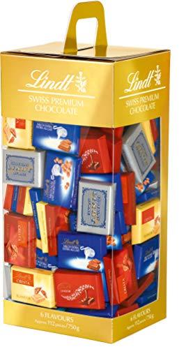 Lindt Naps Schokoladentäfelchen Mischung, enthält 6 verschiedene Lindt-Klassiker im Mini-Schokoladen-Format; z.B. Vollmilch, Weiß oder Nougat, 750 g