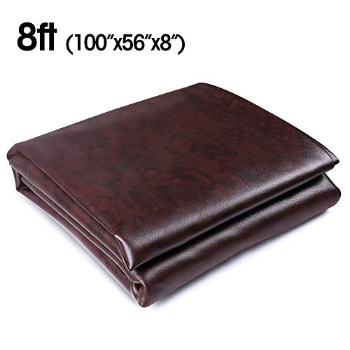 8 ft Foot Heavy Duty Fitted Leatherette Billiard Pool Table Cover