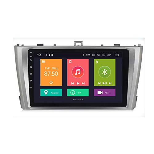 HP CAMP Car Stereo GPS Navegación Carplay DPS Integrado Android 10.0 PX6 Reproductor de para Toyota Avensis | 2.5D Pantalla LCD Táctil | USB | WLAN | Bluetooth/Reverse Camera(Gift)